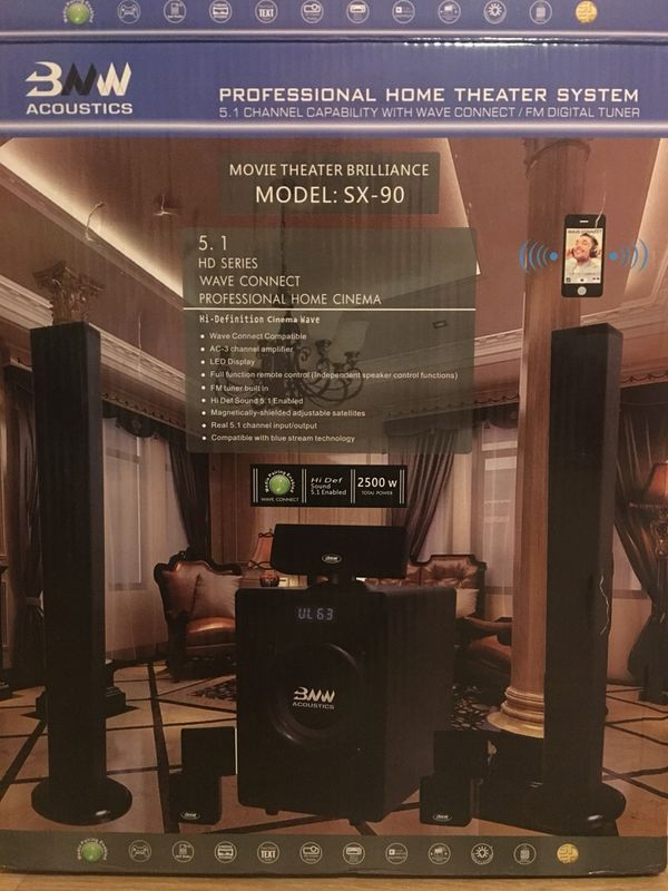 BNW SX90 HOME THEATER SYSTEM with two 2tvs and 1 fridge
