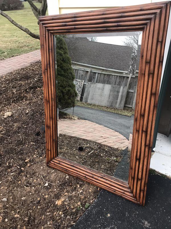 Ethan Allen Bamboo Mirror