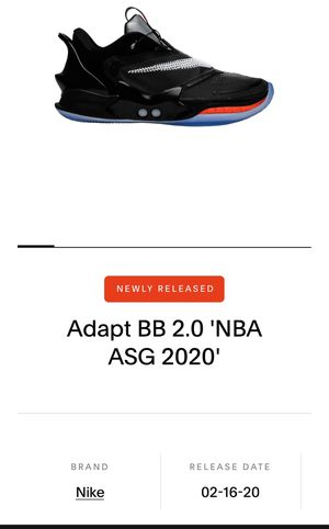 Nike adapt BB 2.0 nba asg 2020 for Sale in Long Beach, CA