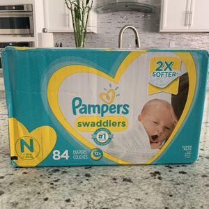 New Pampers Swaddlers diapers newborn 84ct SUMMERLIN for Sale in Las Vegas, NV