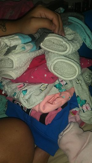 2 bby neck pillows and 6-9 mth bbygirl clothes for Sale in Austin, TX