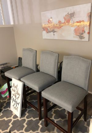 3 Gray Barstools - $99 for Sale in Tempe, AZ