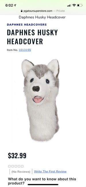 Like new Husky Golf club headcover for Sale in Bothell, WA