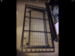 Twin bed pop up trundle bed frame on wheels $20 for Sale in Puyallup, WA