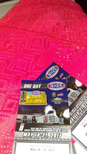 NHRA National tickets@ Heartland Park Topeka for Sale in Wichita, KS