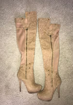Baker brand thigh high stiletto boots size 7.5 for Sale in Denver, CO