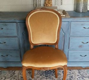 One (1) Vintage Antique French Country Wood Accent Desk Dining Chair for Sale in Phoenix, AZ