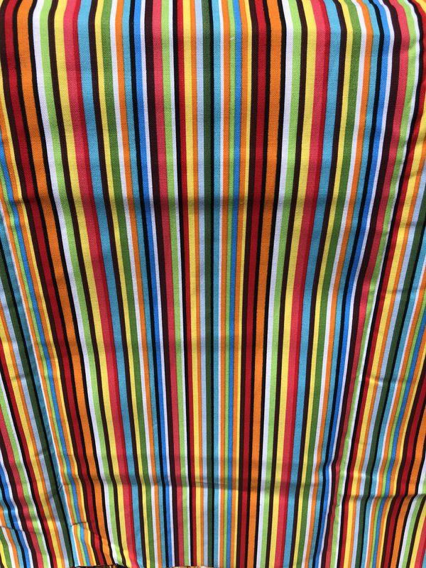 Bright Skinny Stripes Fabric