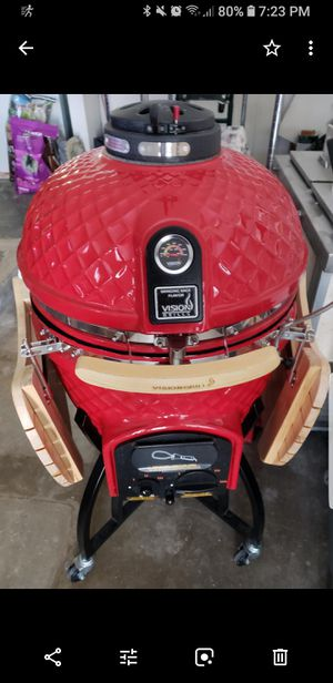 Selling or trading my Vision Pro C ceramic bbq grill with CyberQ temp controller. for Sale in San Antonio, TX