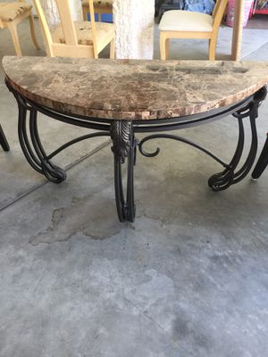 Marble wrought iron sofa table for Sale in Chelan, WA