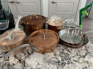 Copper pot and pan set for Sale in Fort Worth, TX