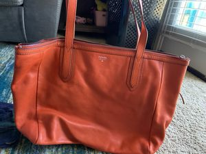 Orange fossil hand bag for Sale in Hillsborough, NC