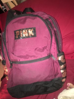 PINK Burgundy backpack with three zippers for Sale in Las Vegas, NV