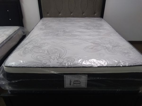 New queen pillow top mattress and box spring ONLY....BED FRAME NOT AVAILABLE