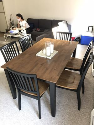 Crate and Barrel Table with 6 chairs for Sale in Boston, MA