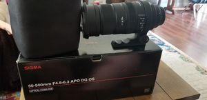 Sigma 50-500mm ef mount Zoom lens for Sale in Murfreesboro, TN