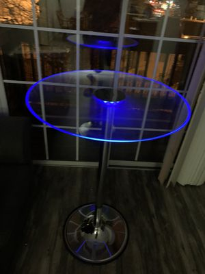 "45""LED Glass top bar tables Transcending table for Sale in Lexington, KY"