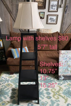 Floor lamp with shelves for Sale in Modesto, CA