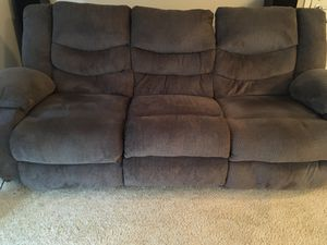 BIG SANDY Recliner couch barely used! for Sale in Dublin, OH