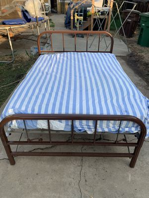 Vintage Metal Frame Murphy style Full size bed for Sale in Clovis, CA