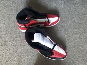 Jordan Retro 1 'Homage to home' black/red/white size: 12 for Sale in Annapolis, MD