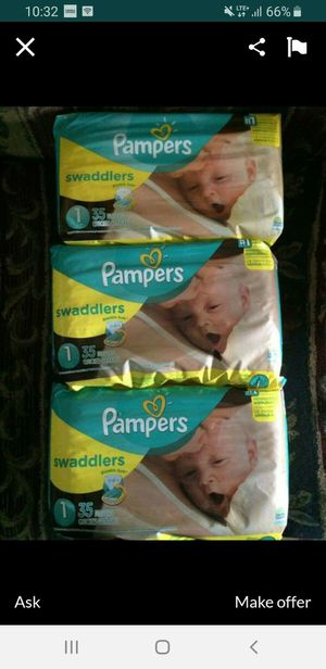 diapers pampers size 1 $6 each package for Sale in Dallas, TX