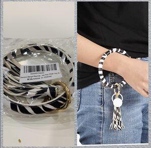 Bracelet Bangle Keychain Keyring - Large Circle Wrist Leather Bracelet Key Holder Key Chain Key Ring for Sale in Irwindale, CA