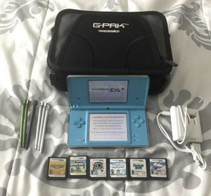 Nintendo DSi Blue System Bundle w/ 6 Games Charger Mario Party-Super Mario Bros. for Sale in Lowellville, OH