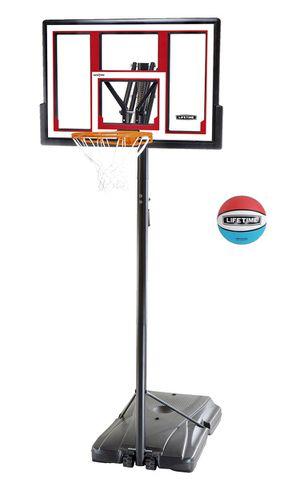 Lifetime Adjustable Portable Basketball Hoop (Rubber Basketball Included), 90491 for Sale in Norfolk, VA