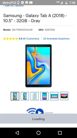 Samsung Galaxy tab A for Sale in Independence, MO