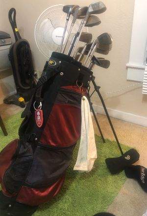 Golf clubs full set. Wilson pro staff mid size and other manufacturers. for Sale in Seattle, WA
