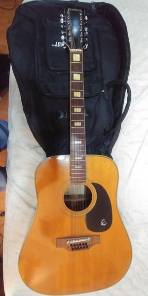 1986 Epiphone 12 String Acoustic Guitar Excellent for Sale in Hialeah, FL