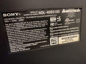 Sony lcd 40inch for Sale in Boston, MA