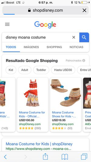 Moana outfit for Sale in Austin, TX