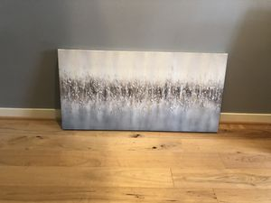 Grey/blue/ white Oil painting/picture on canvas pick up only for Sale in Issaquah, WA