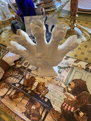 White Porcelain Five Finger Vase for Sale in Suffolk, VA