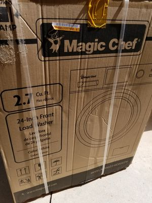 Magic Chef 24 in. 2.7 cu. ft. Front Load Compact Washer in White for Sale in Murrieta, CA