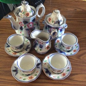 Antique tea coffee set blue floral for Sale in Dry Ridge, KY