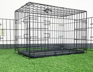 """(NEW) $35 Folding 30"""" Dog Cage 2-Door Folding Pet Crate Kennel w/ Tray 30""""x18""""x20"""" for Sale in El Monte,  CA"""