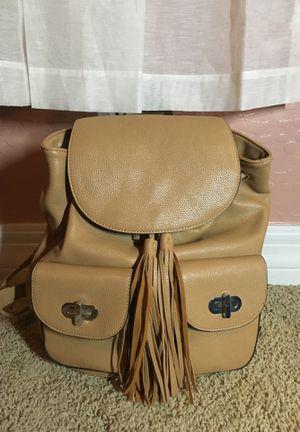 Beige Stylish Tassel Backpack for Sale in Avondale, AZ