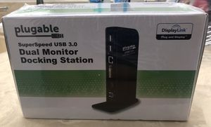 Plugable SuperSpeed USB 3.0 Dual Monitor Docking Station for Sale in Fort Lauderdale, FL