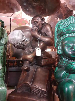 Collectible tabletop monkey thinker statue for Sale in Dunedin, FL