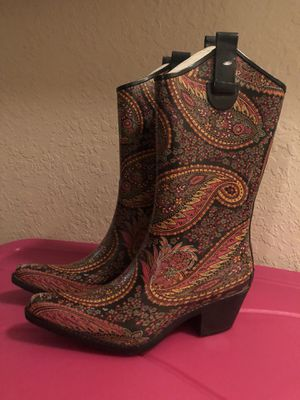 Fun Paisley Cowboy Rainboots for Sale in Orlando, FL