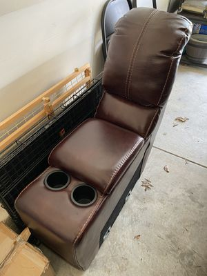 Leather sectional piece for Value City couch cup holder and storage for Sale in Columbus, OH