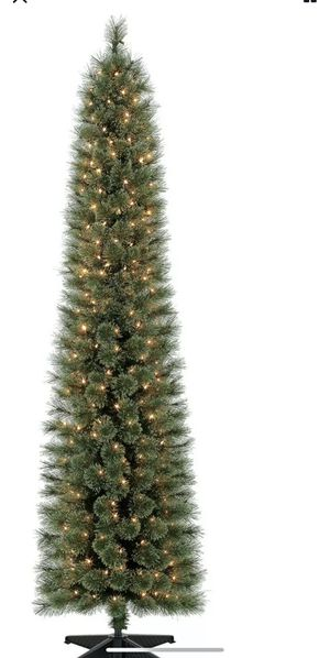 Holiday Time Pre-Lit 7' Shelton Artificial Christmas Tree, Clear-Lights 1.58'W for Sale in Chicago, IL