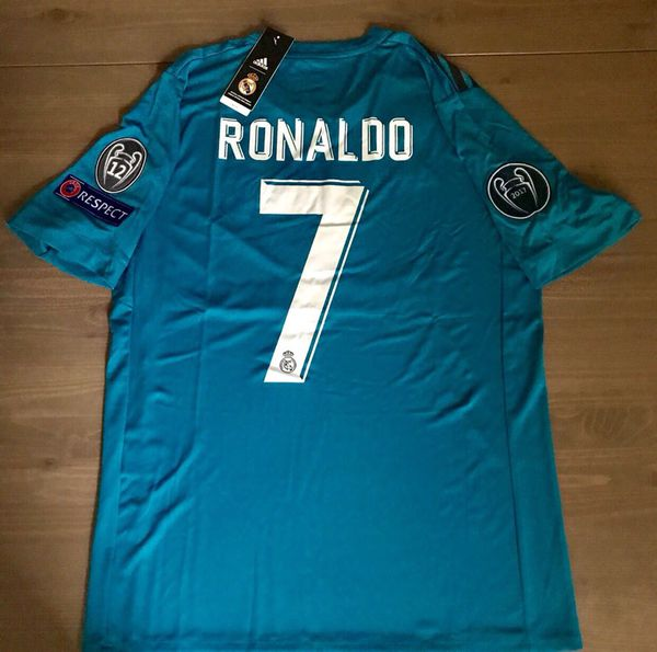 best service 9dac6 605fd Real Madrid 17/18 away blue Ronaldo #7 men adidas soccer jersey Champions  league Gold fifa patch for Sale in Miami, FL - OfferUp