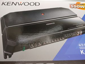 Car amplifier : Kenwood 550 watts 4 channel built in crossover 30 ×1 fuse ( brand new ) for Sale in Huntington Park, CA