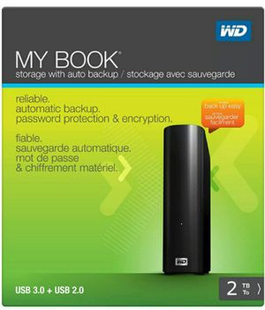 2 TB External Hard Drive - WD My Book USB 3.0 + 2TB Storage for Sale in Washington, DC
