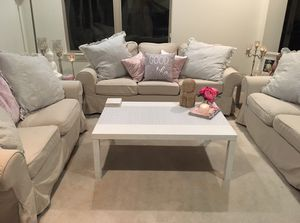 Moving Sale! Practically Brand New Couch + Sofa Loveseat. Very versatile! Please read description. Thank you. for Sale in Manhattan Beach, CA