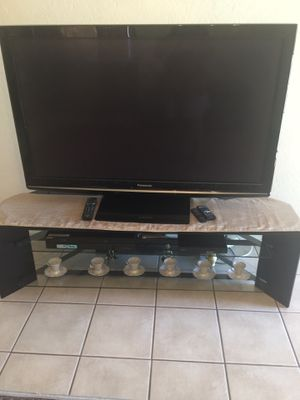 50 inch Panasonic plasma tv with tv stand for Sale in Youngtown, AZ
